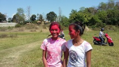Chitwan - Holi day paint